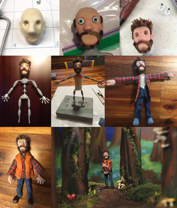 Hunter - Puppet Construction