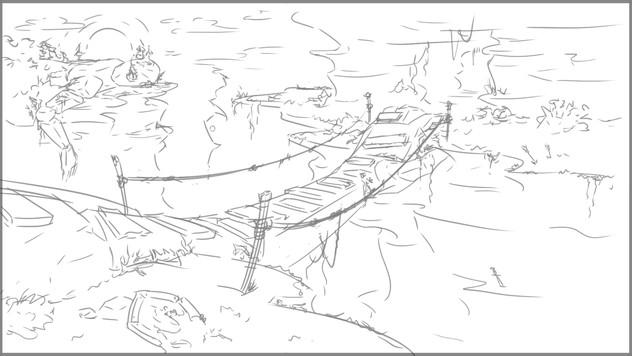 Golem Gorge - Sketch