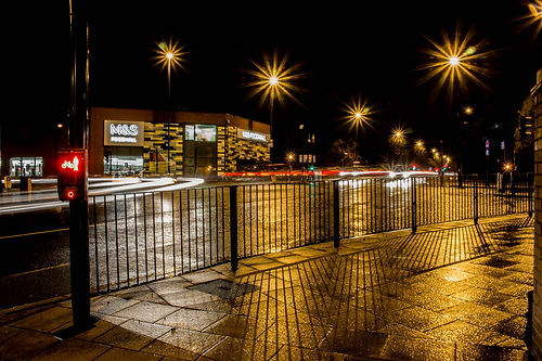 Night photograph of Gosforth in Newcastle
