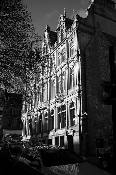 Black and white photograph of Newcastle architecture