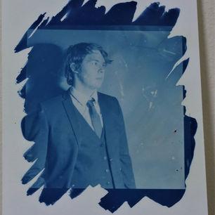 Portraiture with cyanotypes.