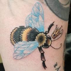 Rich millie tattooing at Crimson Breed Tattoo and Piercing studio, Bloomington Indiana