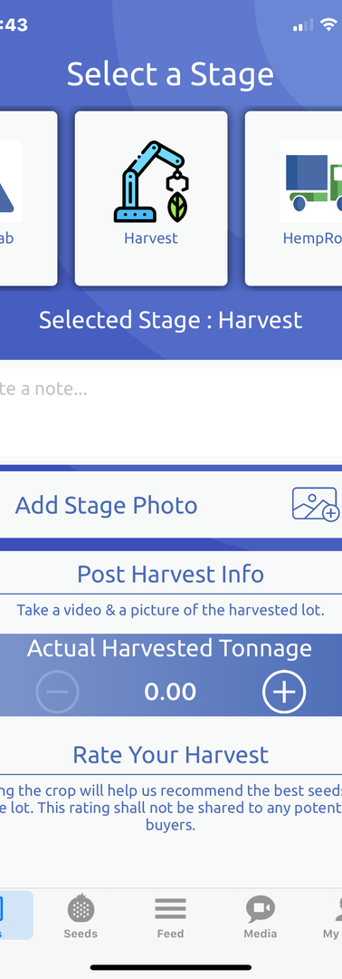 Create or Update a Plant Stage