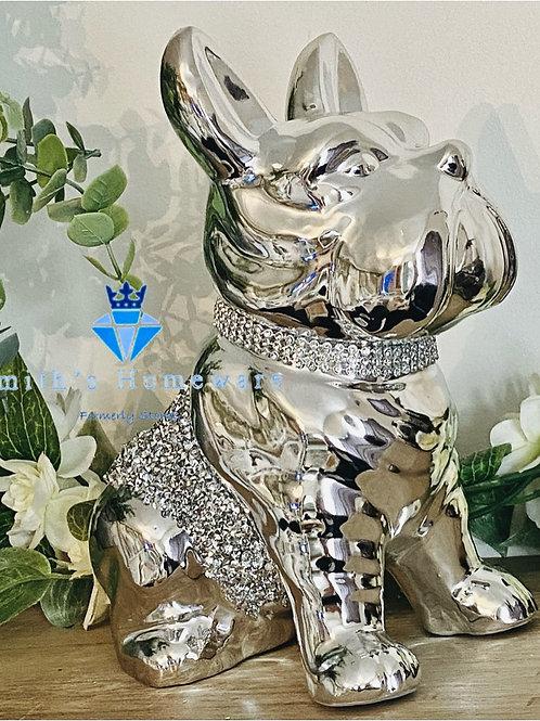 Ornamental diamanté studded Dog