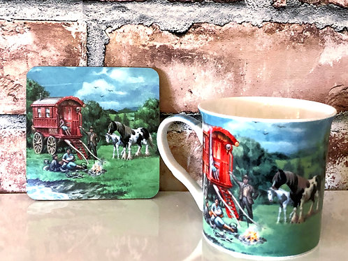 Travellers Mug and Coaster set
