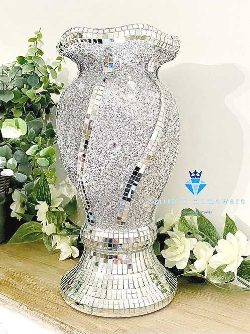 Glitter Twist Vase