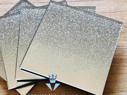 Silver Mirror Glitter Coasters