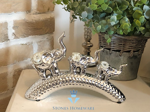 Silver Mille Family of Elephants
