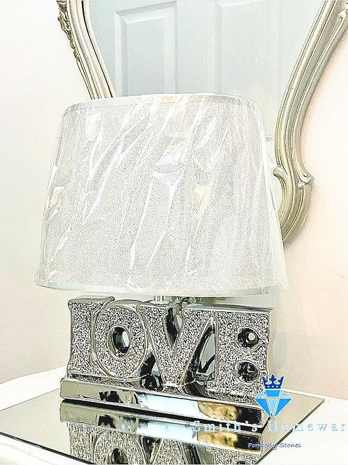 Diamanté Love lamp