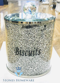 Glass crystal effect Biscuit Jar