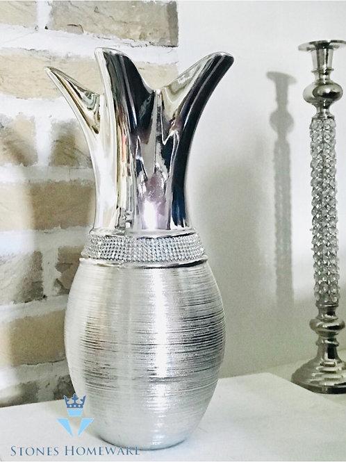 Silver Pineapple Vase