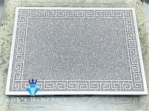 Greek Key diamanté Chopping Board