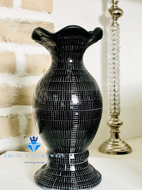 Small Black Mosaic Vase