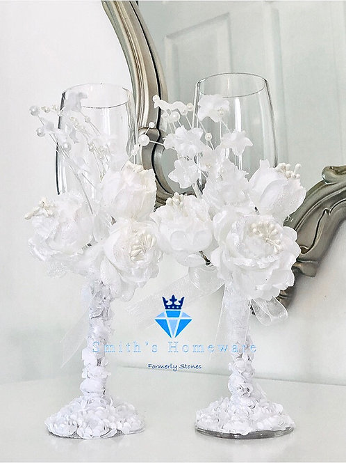 Beautiful floral Flutes