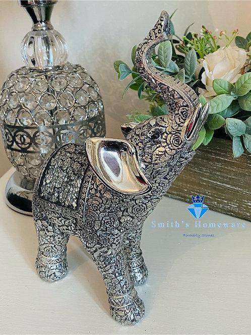 Silver Embossed Elephant