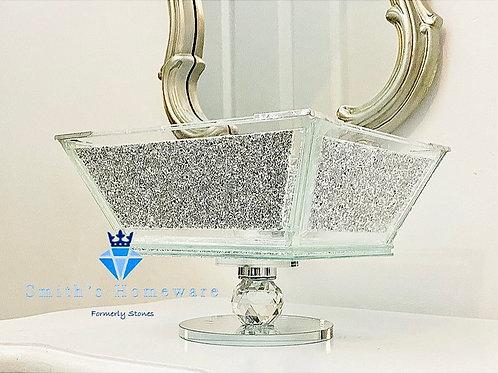 Silver Diamanté fruit Bowl - Small