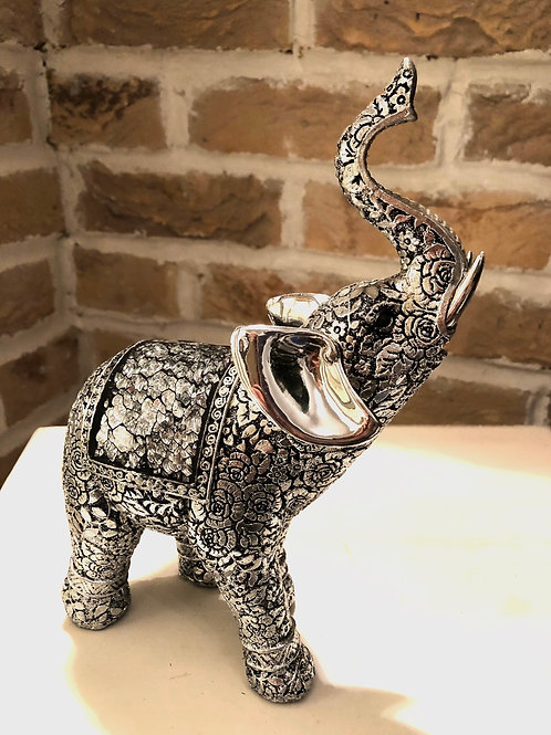 Silver Embossed Elephant