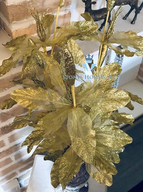 Gold Glitter Flowers