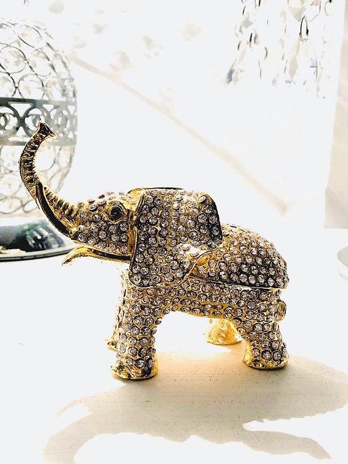 Diamanté Elephant Trinket