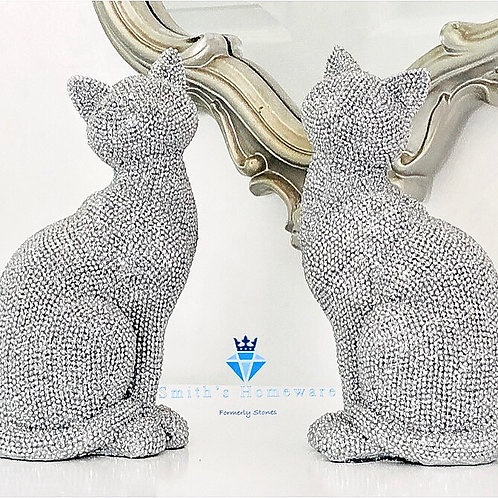 Sparkly Cat Figurine (Right facing)