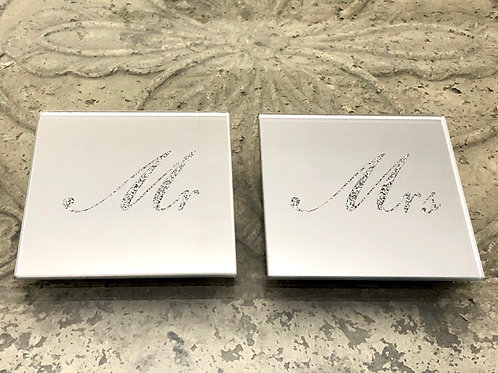 Mr and Mrs Glitter Mirror Coasters