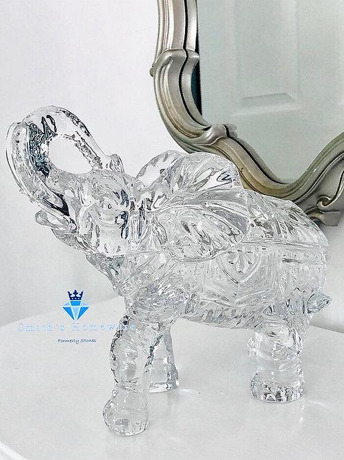Glass Elephant Trinket