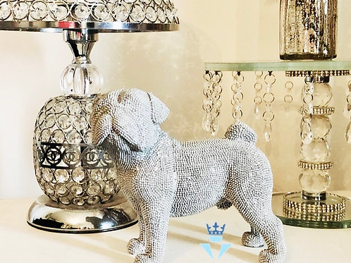 Silver Sparkly standing Pug