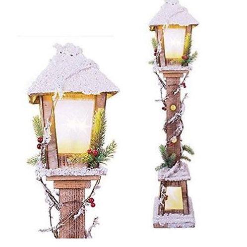 LED Wooden Christmas Lamp post