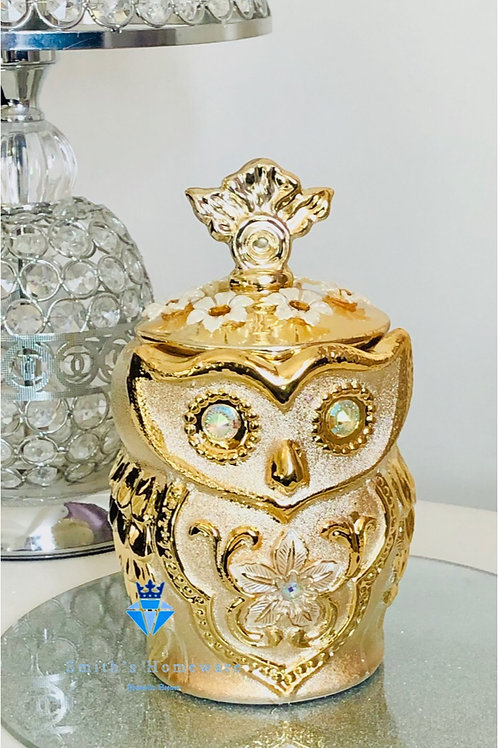 Jewelled Owl canister
