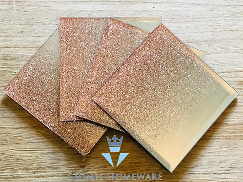 Mirror Rose Gold Coasters