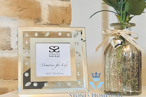 Mirror and Petal Photo Frame 3x3