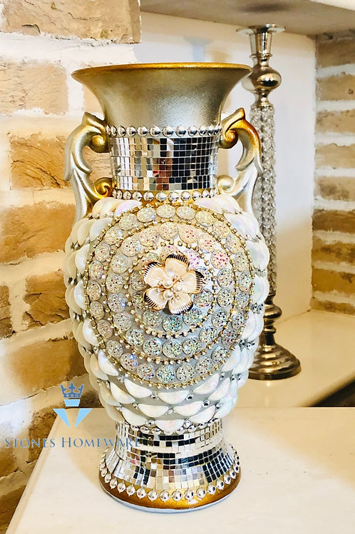 Jewell Studded Trophy Vase