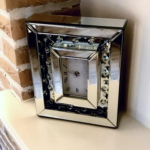 Mirror floating Diamond Clock