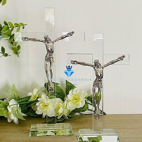 Glass Crucifix - Meduim
