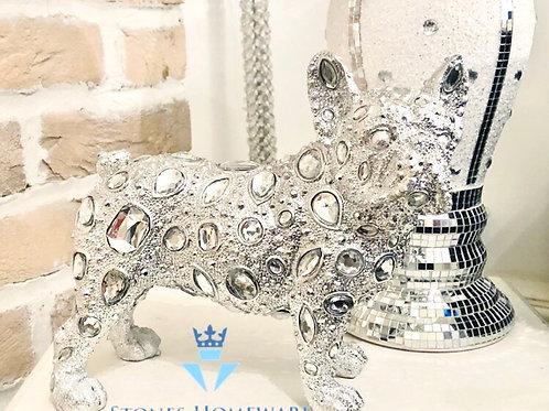 Silver Art Diamante Bulldog