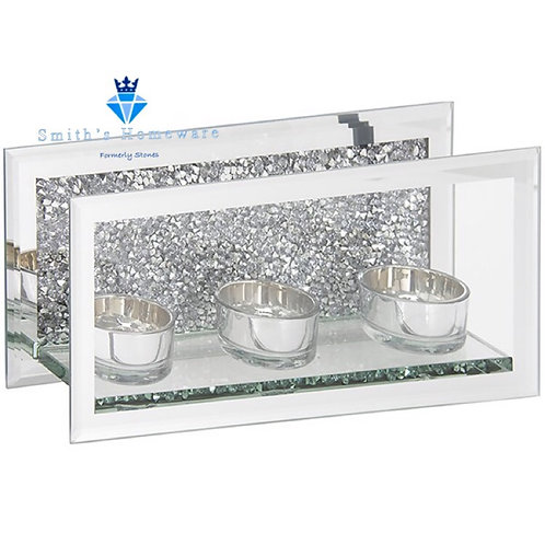 Crystal Triple Tea Light Holder