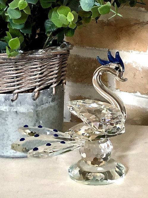 Glass Swan - Blue