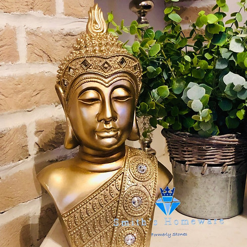 Gold Buddha Bust