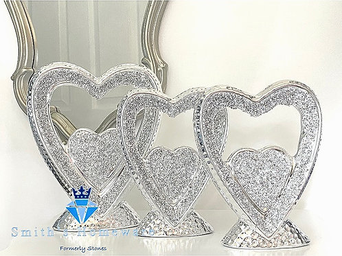 Diamanté Heart set