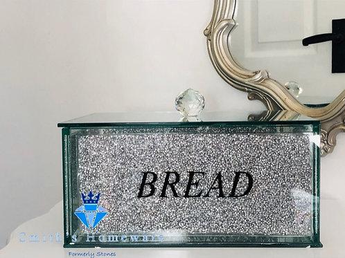 Silver Crystal effect Bread Bin