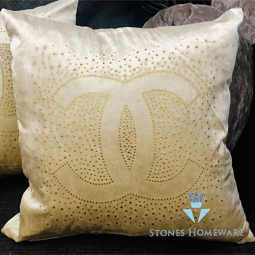 Inspired pair of Cushions - Gold