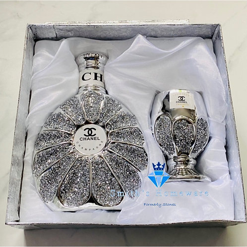 Diamanté Bottle and glass set
