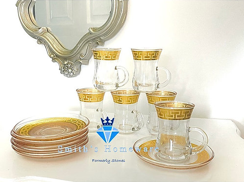 Greek key Espresso set