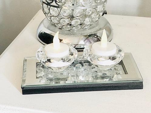 Diamond Double Tea Light Holder