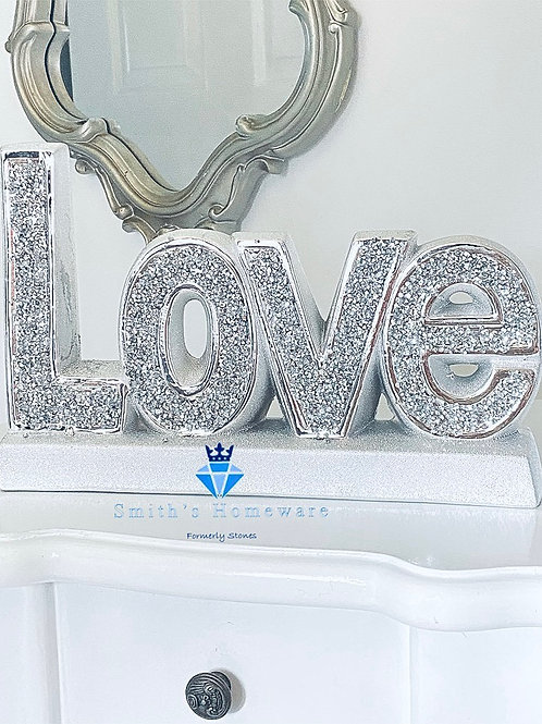 Diamanté Love Plaque