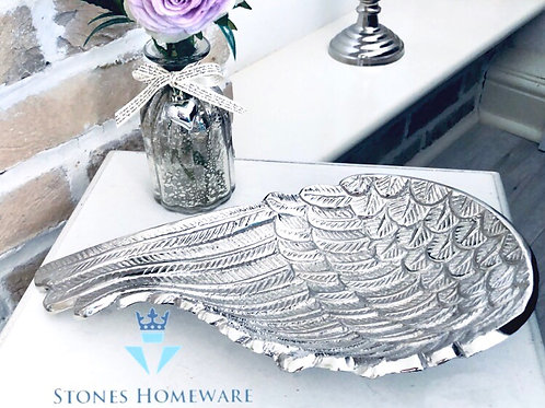 Silver Angel Wing Dish