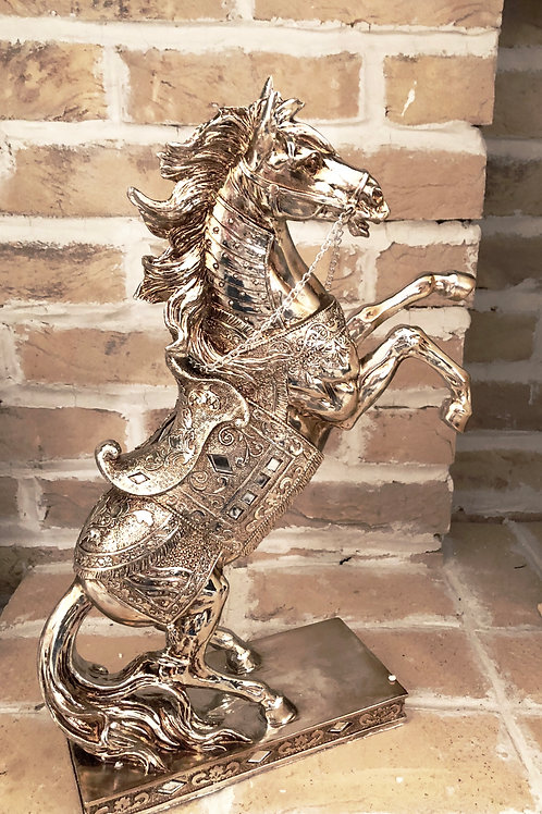 Bronzed Silver Decorative Horse