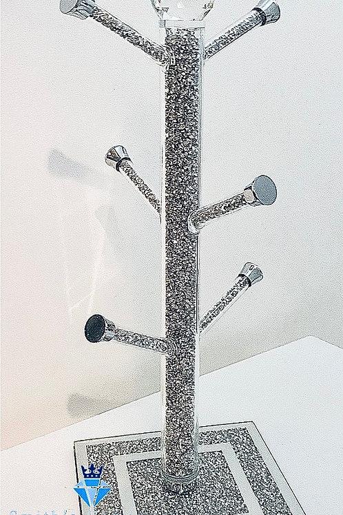 Silver diamanté mug tree holder