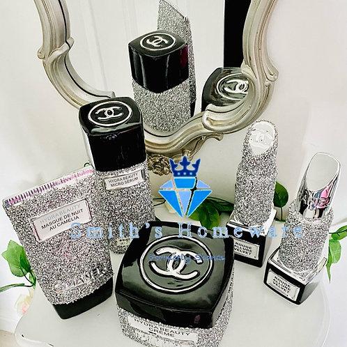 5 piece inspired diamanté ornamental make up set