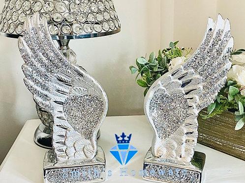Diamanté studded Angel Wings